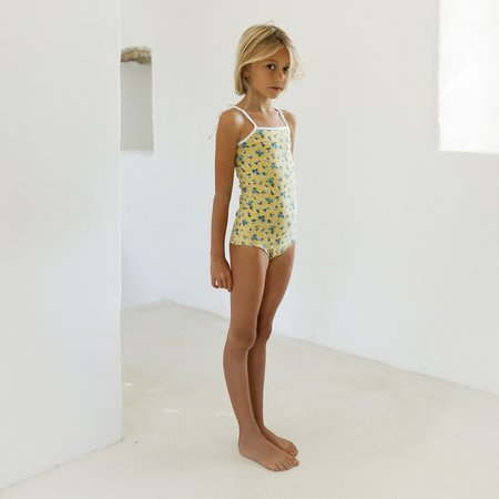 Yoli & Otis Fedor Kid's Swimsuit - Mustard Floral