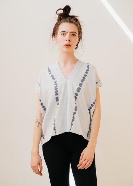 Atelier Delphine Celeste Upcycled Yarn Top - Ice Wash Tie Dye