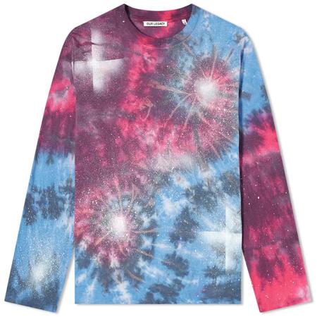 Our Legacy Box Long Sleeve Shirt - Firework Tie Dye