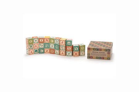 Kids Uncle Goose Spanish ABC Wood Blocks