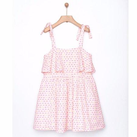kids yellowsub double printed dress - fuchsia