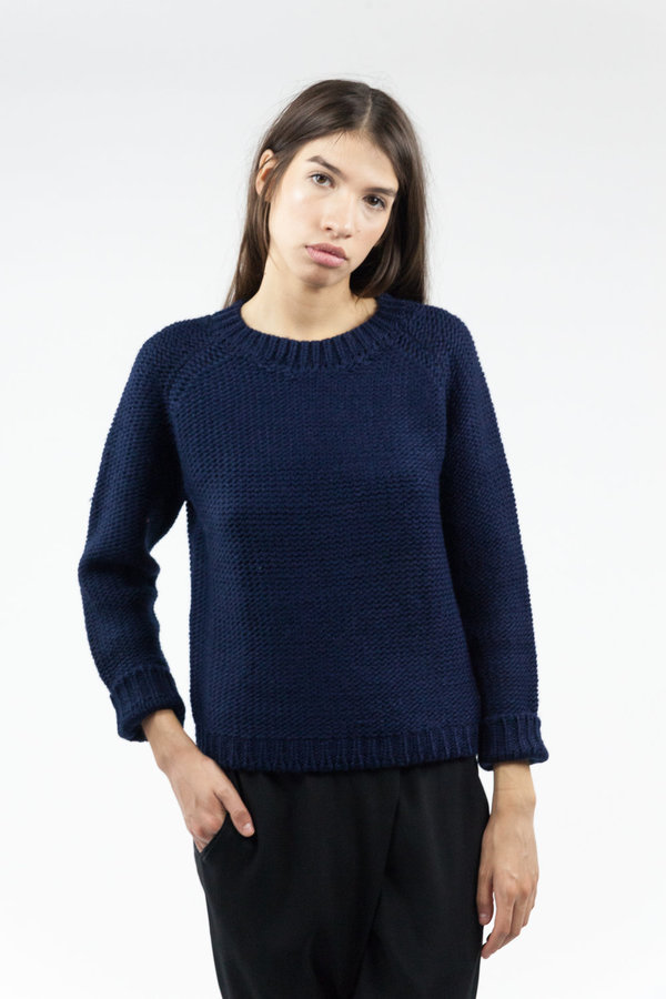 Objects without Meaning Raglan Sweater - Navy