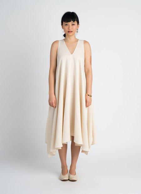 KAAREM Tide Sleeveless V-Neck Tent Dress - Beige