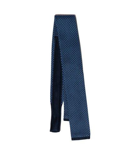 Freemans Sporting Club Albizzati Square Knit Tie - Navy