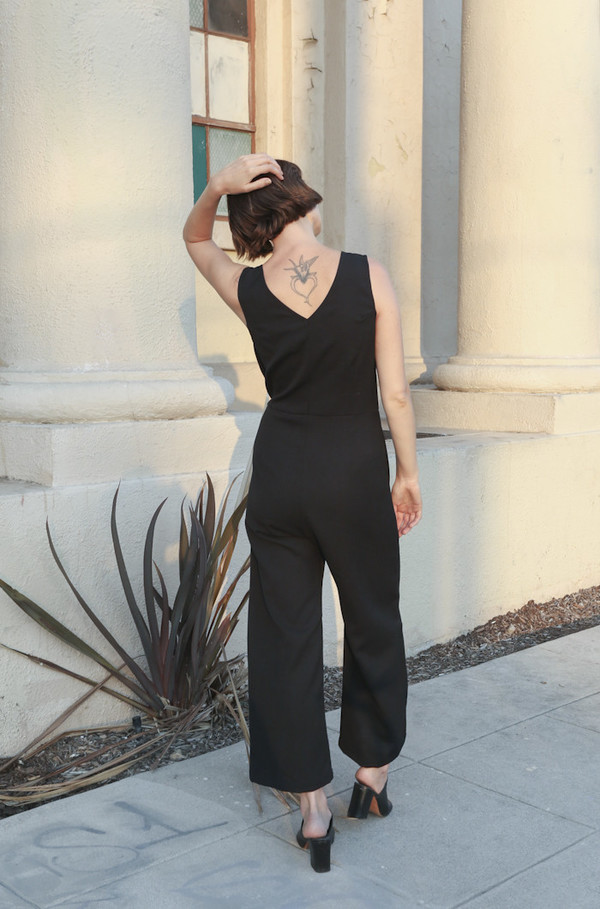 Town Clothes Mara Jumpsuit in Onyx