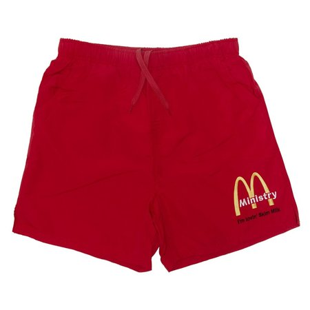 Skim Milk McINISTRY Swimming Trunks Ministry Collab - red