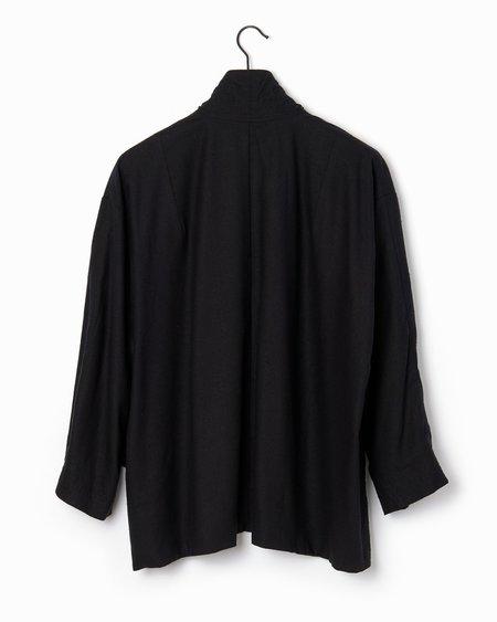Alasdair Oversized Gene Jacket - Black