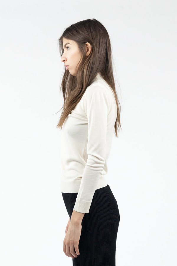 Objects without Meaning Mock Neck L/S Top - Oat