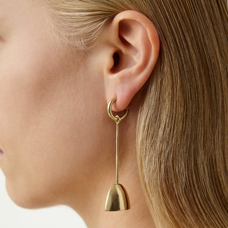 Quarry Riboud Earrings - white bronze/silver