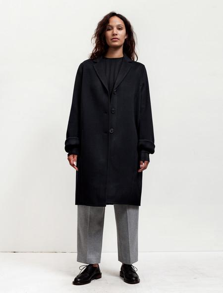 Acne Studios Womens Elsa Doublé Coat Navy
