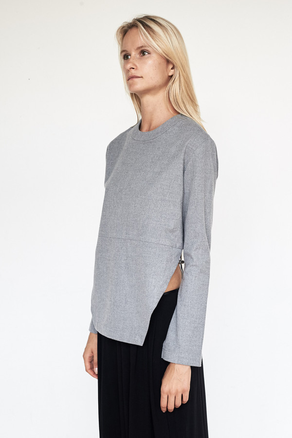 Assembly New York Poly Heather L/S Bevel Top