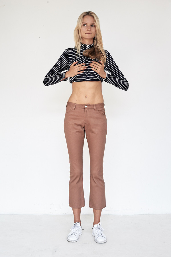 Nomia Washed Denim Cropped Jeans