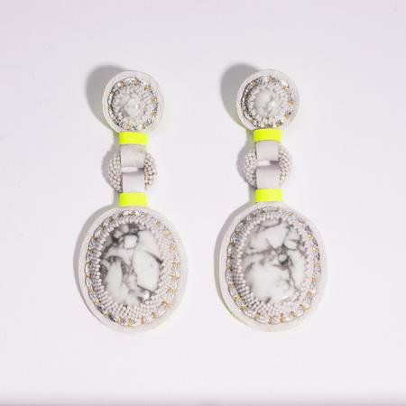 Robin Mollicone Double Stone Earrings