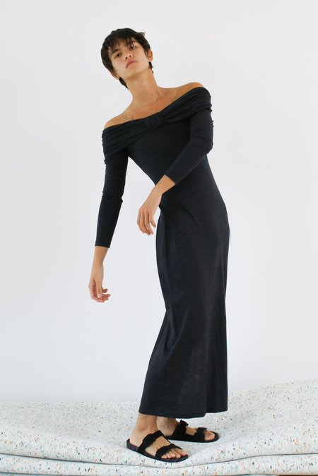 LOCLAIRE Dunes Dress – Charcoal