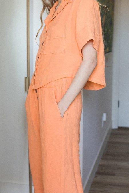 BACK BEAT RAGS Organic Cotton Pajama Top - Tangerine