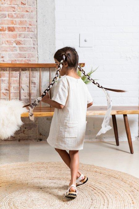 Kids Gauze Shift Dress - White