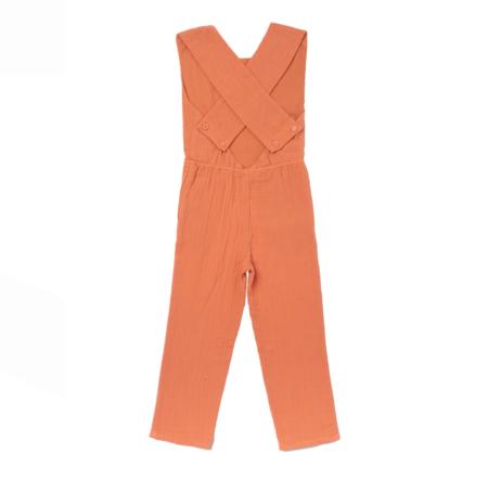 kids Pinafore Gauze Overalls - orange