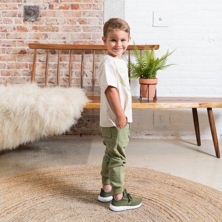 kids Omamimini Textured Terry Sweatpants - Olive