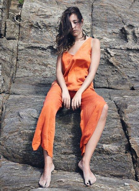 Seek Collective Poppy Diamond Jacquard Sun Cami top - Orange