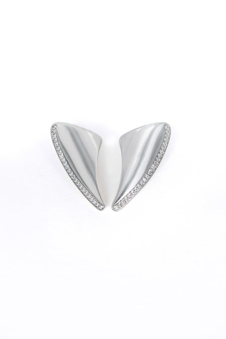 SMARO EARRING NEW ERA WITH STONES - SILVER