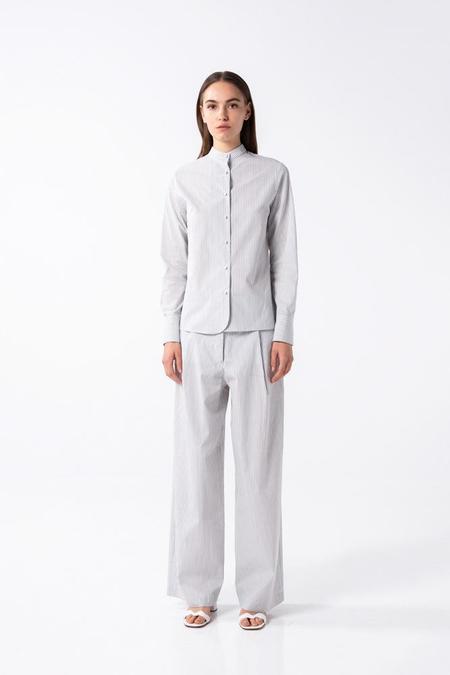 AISHA DIRI MAO STRIPPED SHIRT - Grey/white
