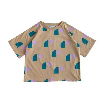 kids Main Story Oversized Short Sleeve T Shirt - Tan Sail