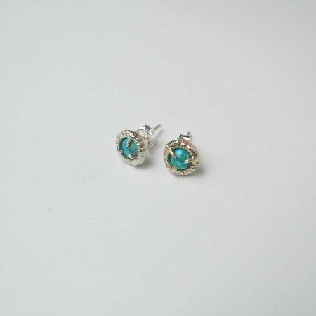 Monica Squitieri Jade Cove Earrings - Silver