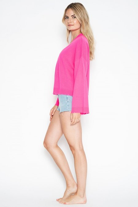 One Grey Day Porter Open Cardi - Pink
