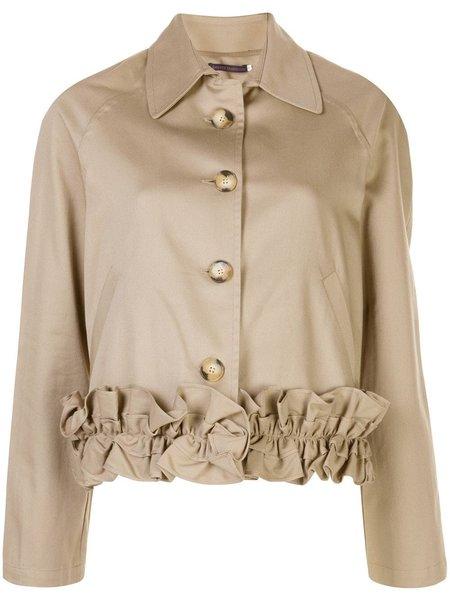 Harvey Faircloth Ruffle Bottom Jacket - Khaki
