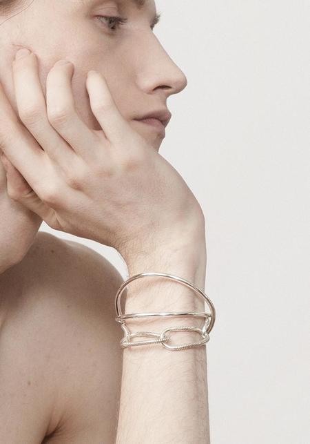 Annika Inez Endless Curve Bracelet - Sterling Silver