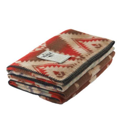Woolrich Roaring Branch Jaquard Wool Blanket