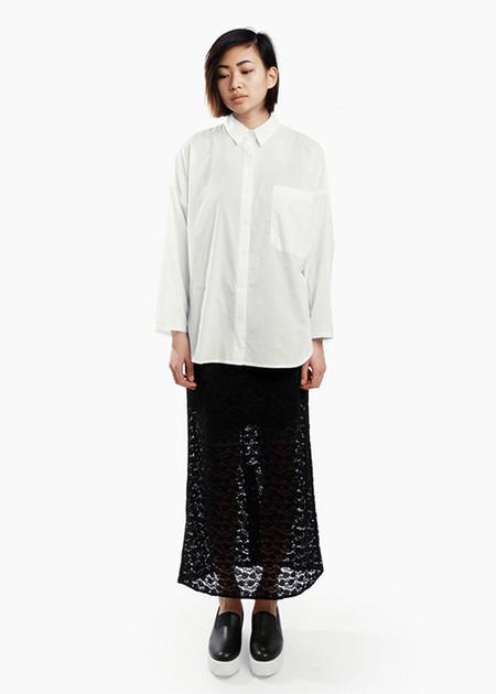 Toit Volant - Midi Lace Pencil Skirt