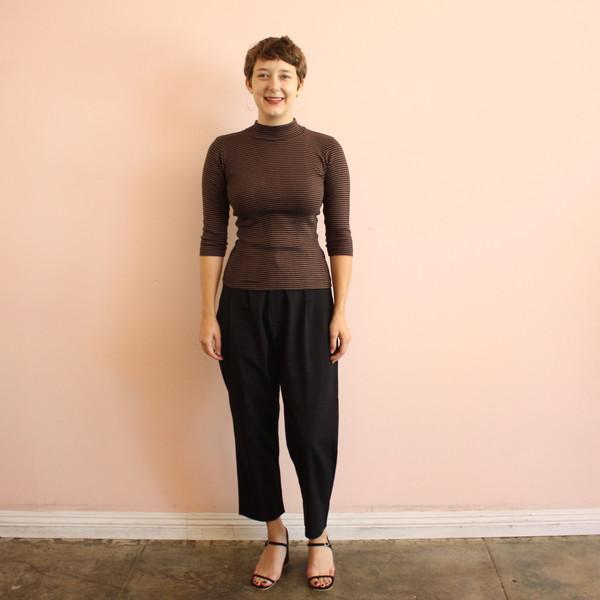 Curator Ida Stripe Mock Turtleneck