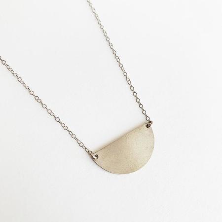 Bijoux B Half Moon Necklace - Silver