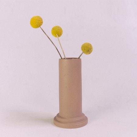 Lindsey Hampton Small Step Vase - Taupe