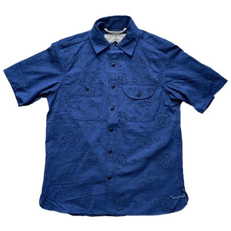Rogue Territory Work Shirt Short Sleeve - Blue Floral