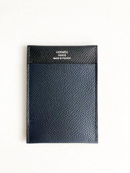 [Pre-loved] Hermes Leather Card Holder - Black