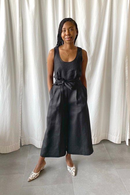 No.6 Dorsey Jumpsuit - Black Linen