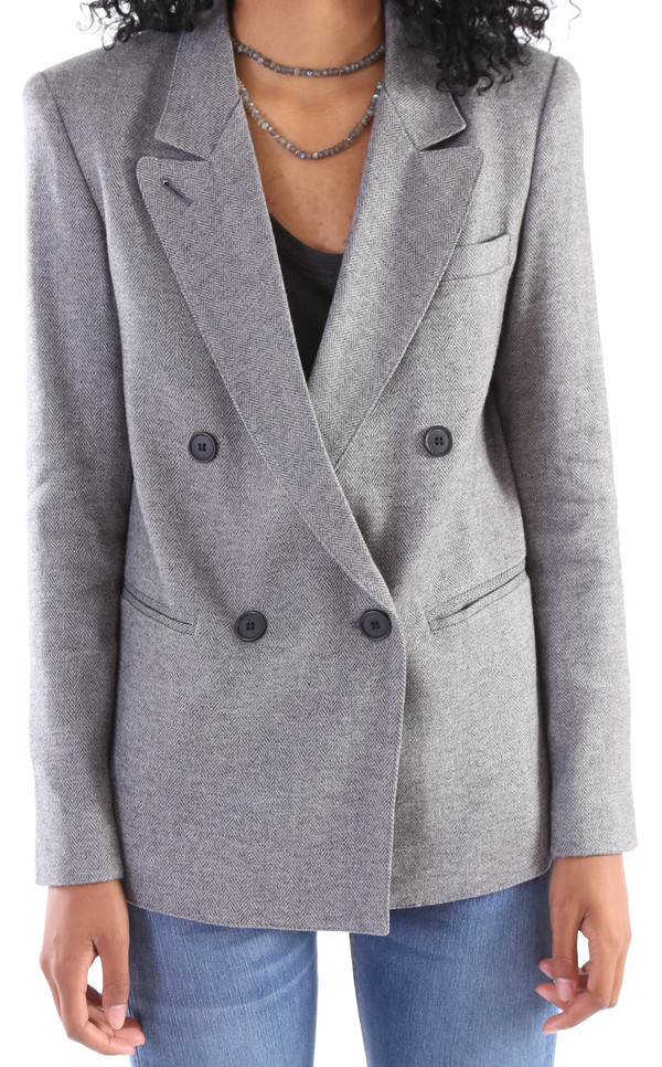 Smythe Double Breasted Blazer w/ Detachable Faux Fur