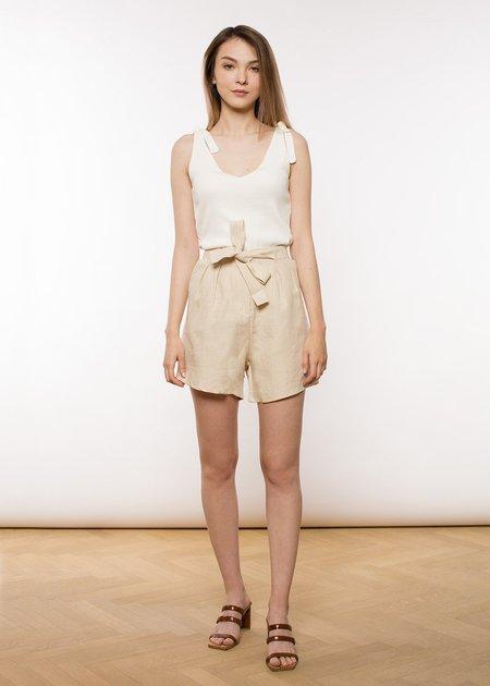 Jungle Folk Mara Linen Shorts - Beige