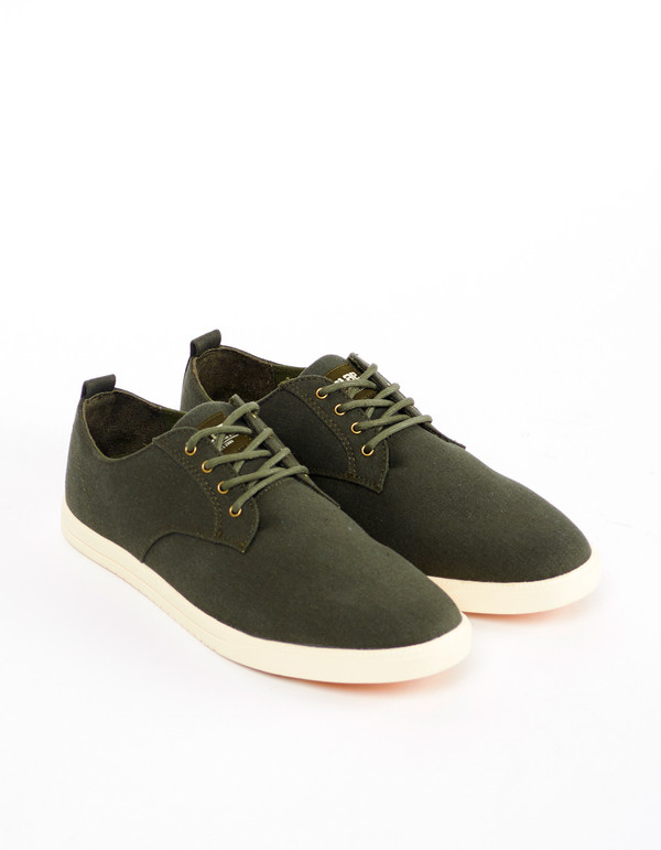 Men's Clae Ellington Textile Army Waxed Canvas