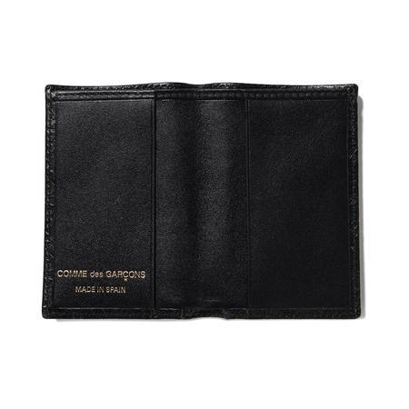 COMME des GARÇONS SA640E Embossed Leather Wallet - Black