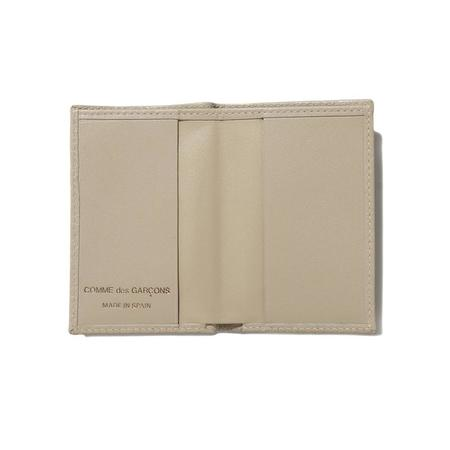 COMME des GARCONS SA640E Embossed Leather Wallet - Off White