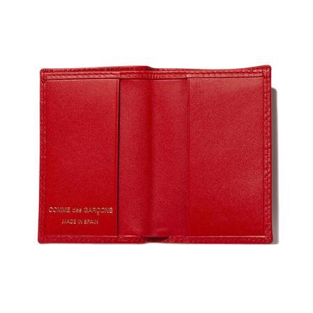 COMME des GARÇONS SA640E Embossed Leather Wallet - red