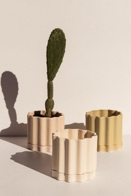 Ella Reweti Small Planter - Limestone