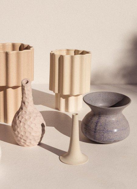 Ella Reweti Limestone Tapered Vase - Chalk