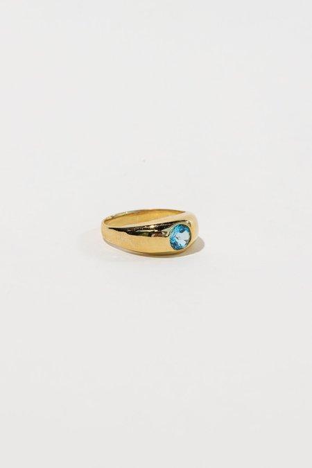 Luiny Gypsy Ring - Blue Topaz