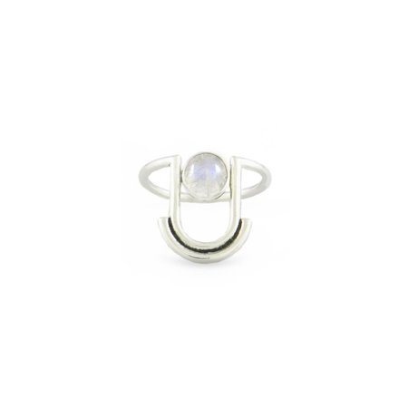 Artifacts Arc Ring - Sterling Silver/Moonstone