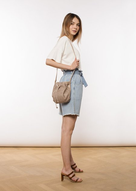 ÁERON Tracy paperbag waist short - blue