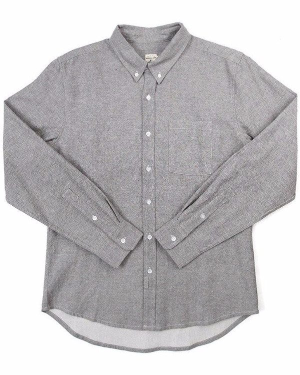 Men's Bridge & Burn Fulton Grey Donegal Shirt